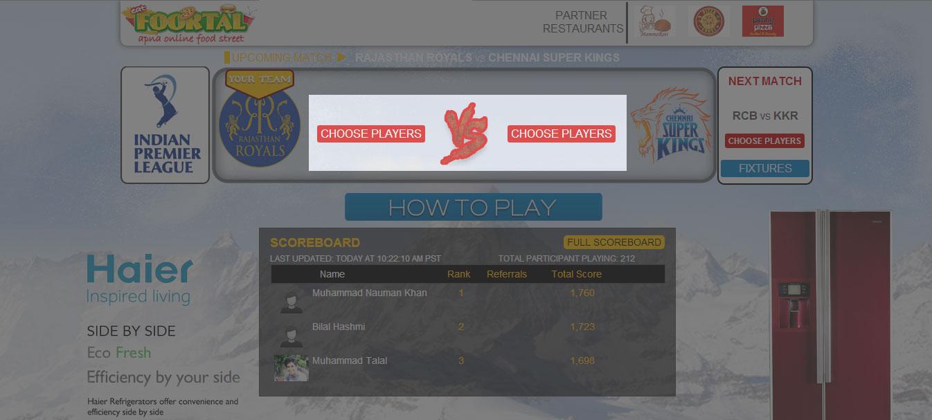 Choose Players